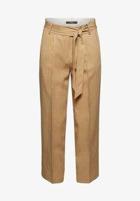 Esprit Collection - MIT BINDEGÜRTEL - Trousers - sand - 7