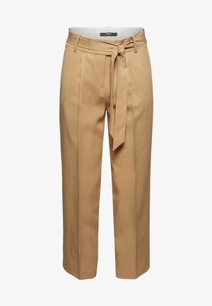 MIT BINDEGÜRTEL - Trousers - sand