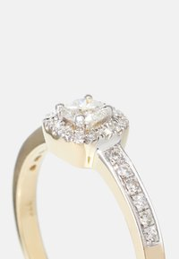 DIAMANT L'ÉTERNEL - NATURAL DIAMOND RING CERTIFIED 0.4CARAT HALO ENGAGEMENT DIAMOND RINGS 9KT YELLOW GOLD DIAMOND JEWELLERY GIFTS FOR WOMENS - Sormus - gold - 3