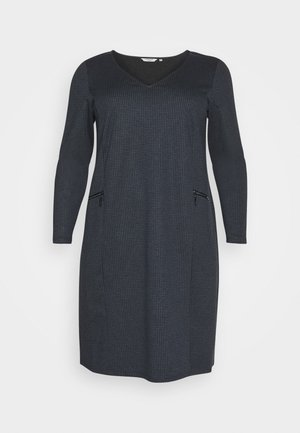 CHECKED ZIP DRESS - Day dress - grey