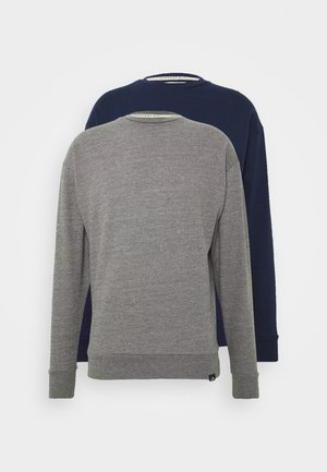 NEWPORT CORE CREW 2 PACK - Sweatshirt - grey/navy
