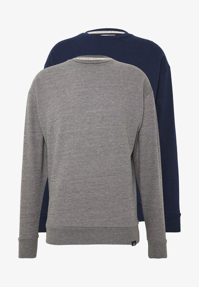 NEWPORT CORE CREW 2 PACK - Sweater - grey/navy