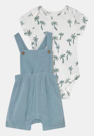 BABY DUNGAREE SET - T-shirt print - dusty blue