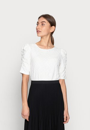 TOP PETAL STRUCTURE - T-shirt con stampa - off white