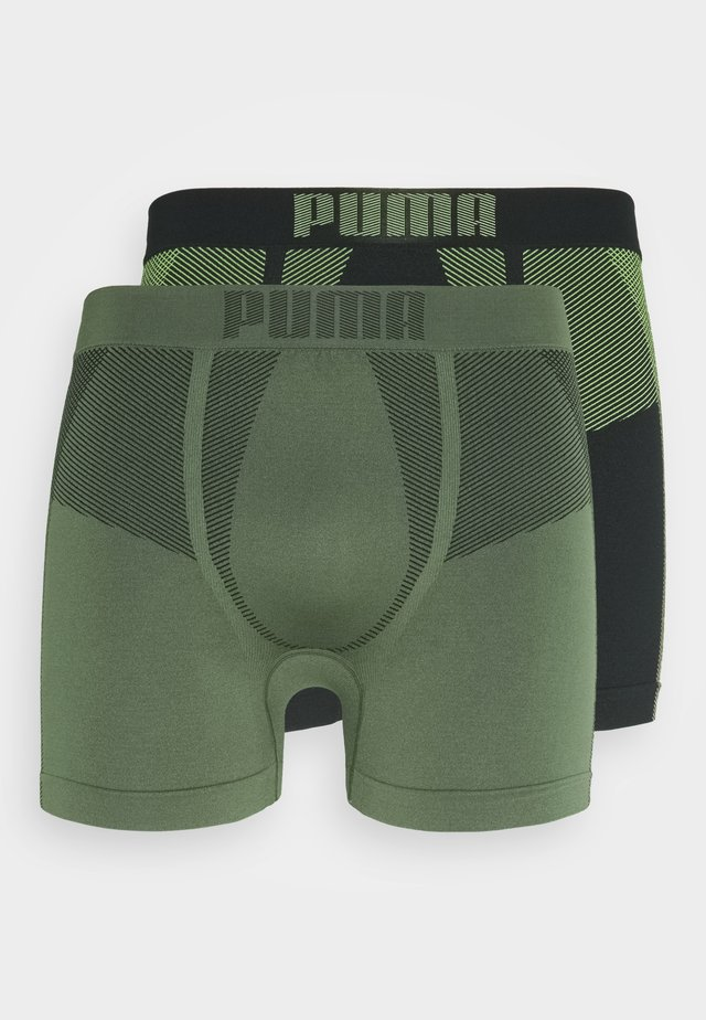 SEAMLESS ACTIVE 2 PACK - Pants - army green