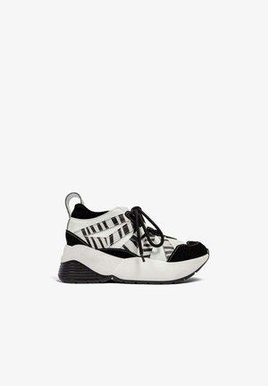 Sneakers hoog - black/white