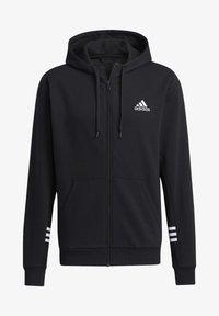 adidas Performance - ESSENTIALS COMFORT HOODED TRACK TOP - Zip-up hoodie - black - 4