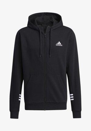 ESSENTIALS COMFORT HOODED TRACK TOP - Zip-up hoodie - black