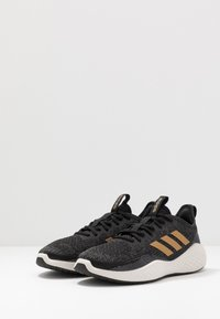 adidas Performance - FLUIDFLOW - Neutral running shoes - core black/tactile gold metallic/grey six - 2