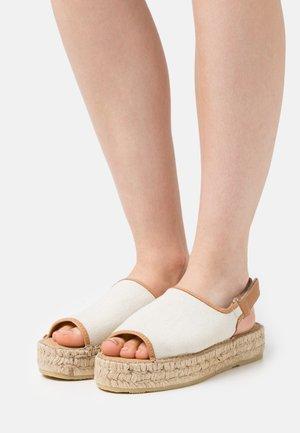 AVIGNON LINEN - Sandals - nature