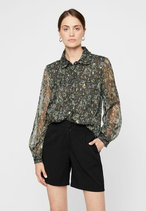 YASBLOOMA - Button-down blouse - black olive