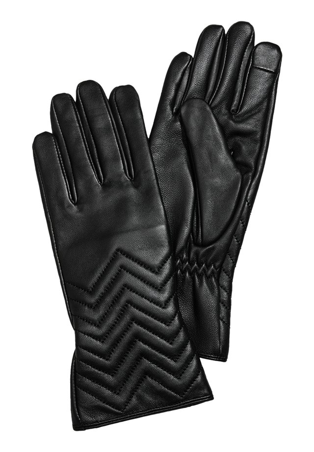 LEDERHANDSCHUHE MIT TOUCHSCREEN-FUNKTION - Gloves - black