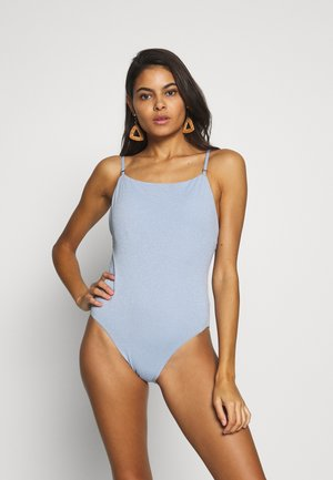 STARDUST SQUARE NECK MAILLOT - Swimsuit - bluebell