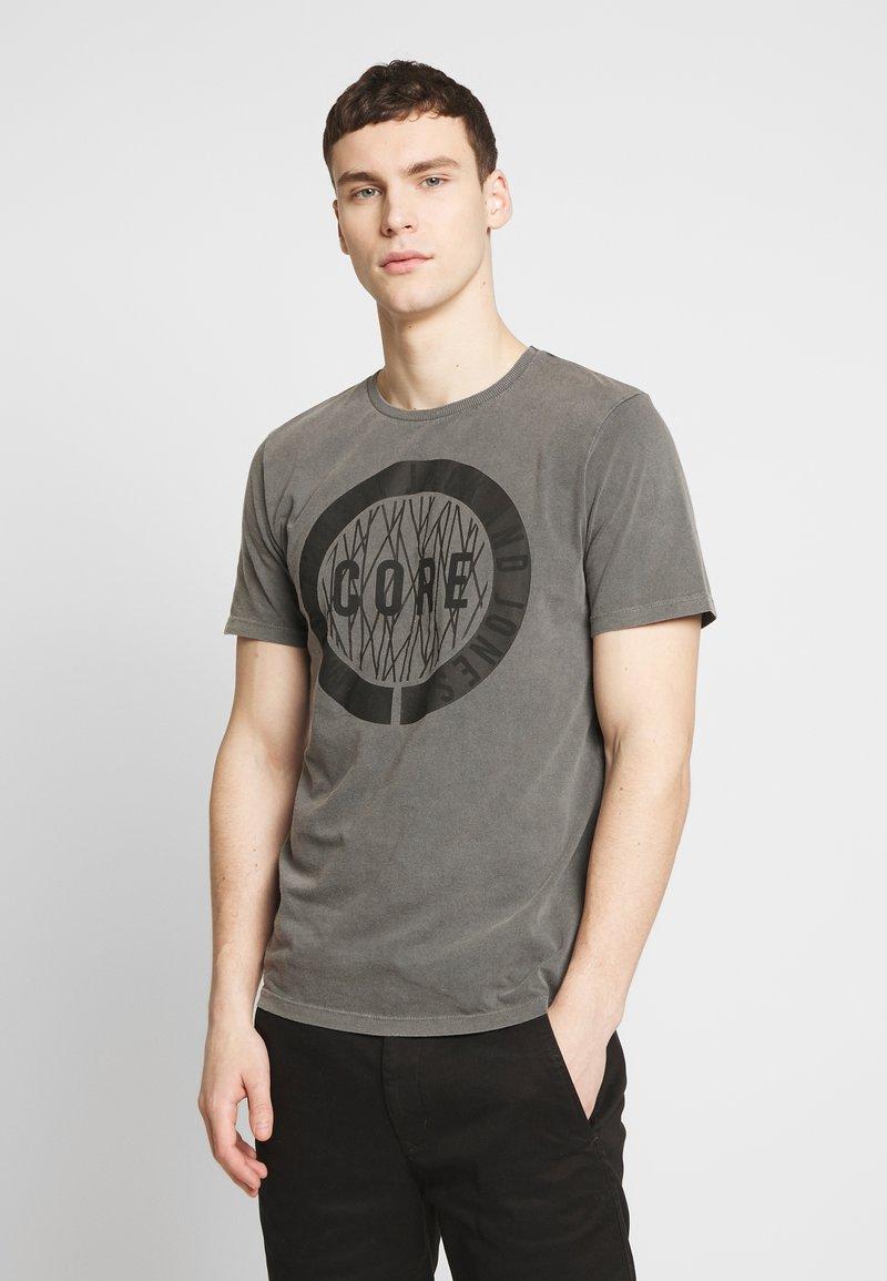 Jack & Jones - JCOPARADOX TEE CREW NECK - T-shirt print - asphalt