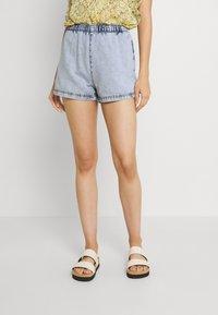 Gina Tricot - EASY - Denim shorts - blue - 0
