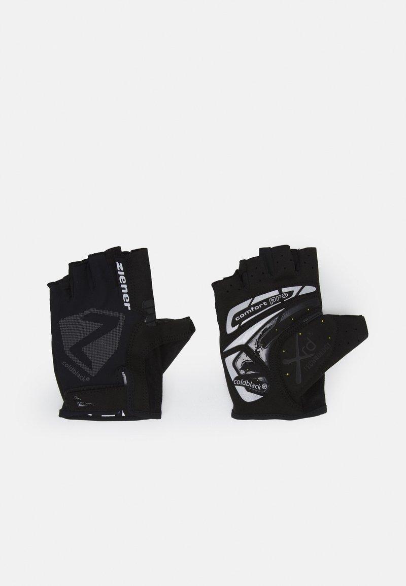 Ziener - CANSEN BIKE GLOVE - Fingerless gloves - black