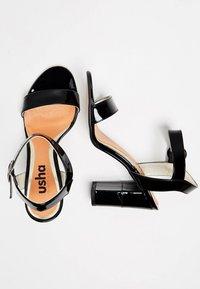 usha - Sandály na vysokém podpatku - black - 2