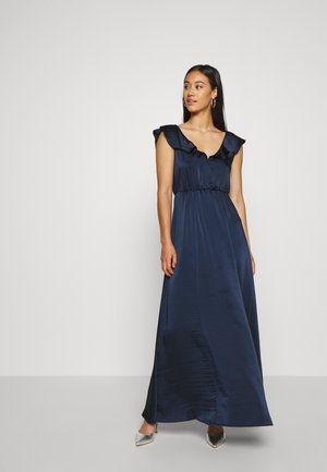 VIFLOATING FRILL MAXI DRESS - Vestido de fiesta - navy blazer