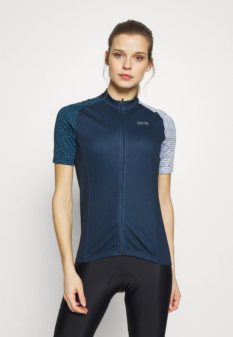 Gore Wear - GORE® C3 DAMEN ONDASIA - T-Shirt print - orbit blue/dynamic cyan