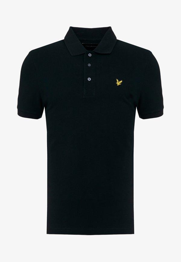 Lyle & Scott Koszulka polo - jet black/czarny Odzież Męska EEVL