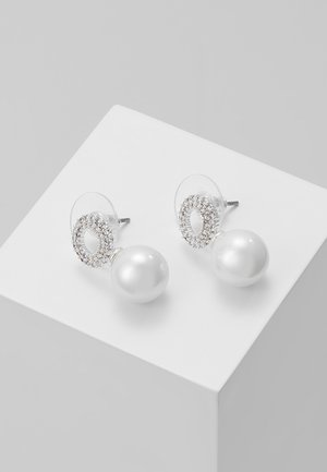 GRACIE SMALL PENDANT EAR  - Boucles d'oreilles - silver-coloured/white