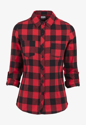 Button-down blouse - black/red