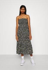 Tommy Jeans - SMOCK FLORAL DRESS - Day dress - black/green - 3