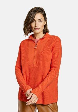 Zip-up sweatshirt - pumpkin