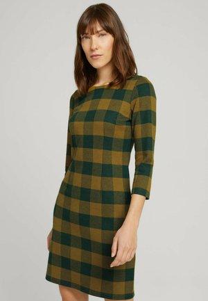 Shift dress - green small check ck