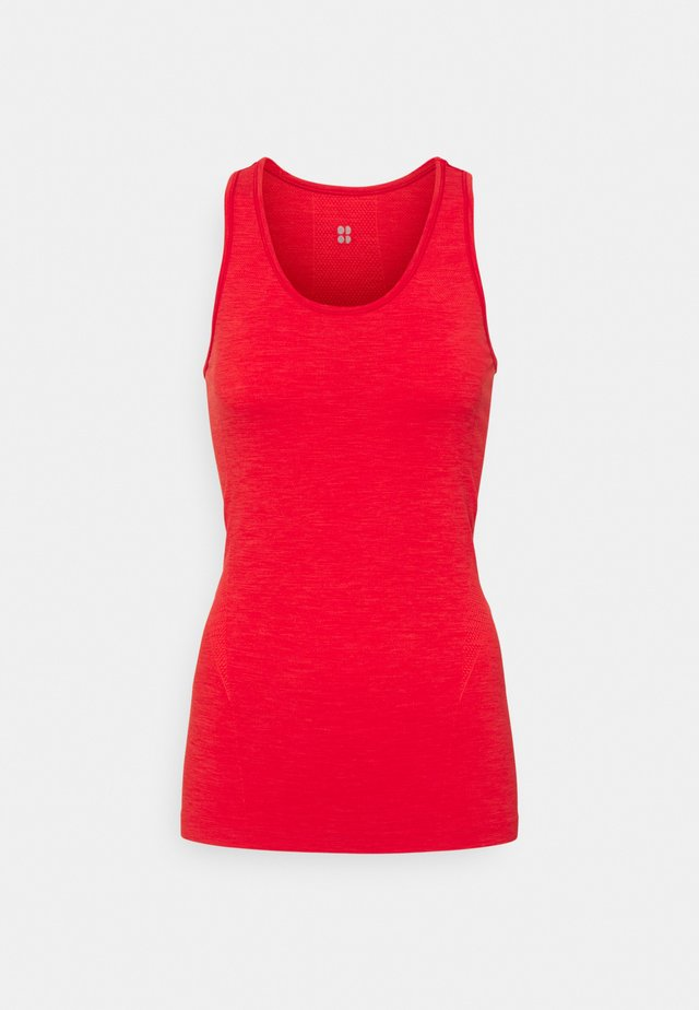 ATHLETE SEAMLESS WORKOUT - Top - rich red