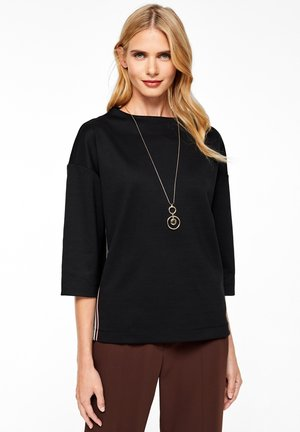 MIT TAPE-APPLIKATION - Long sleeved top - black