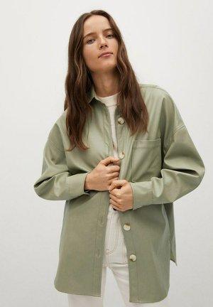 TRAVELER - Faux leather jacket - vert