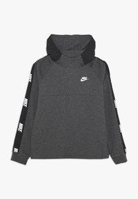 Nike Sportswear - HYBRID  - Hoodie - black/charcoal heathr/white - 0