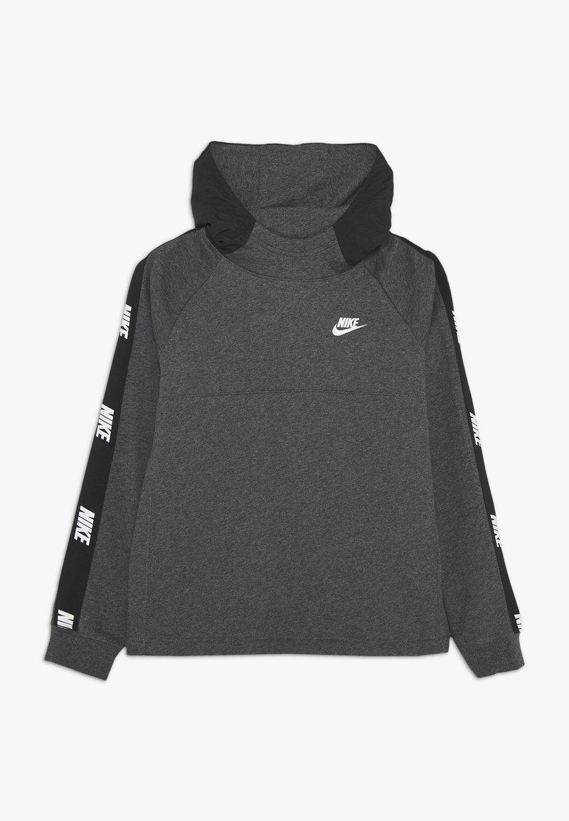 Nike Sportswear - HYBRID  - Hoodie - black/charcoal heathr/white