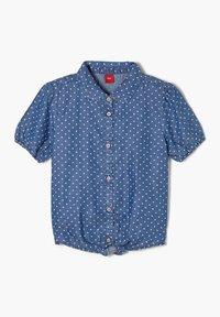 s.Oliver - MET GEKNOOPT DETAIL - Button-down blouse - dark blue - 2