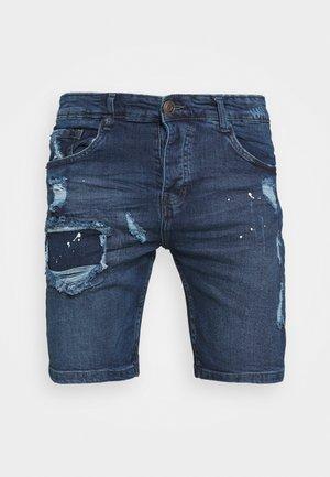 MUNICH - Short en jean - dark blue wash