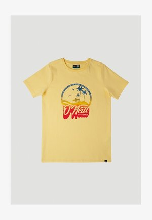 GRADIENT VINTAGE SURF - Camiseta estampada - gold haze