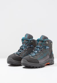 Lowa - APPROACH GTX MID JUNIOR - Walking boots - anthrazit/türkis - 2