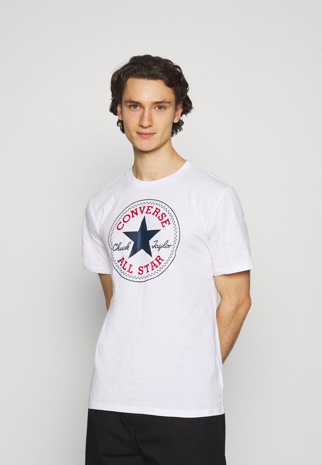 CHUCK TAYLOR ALL STAR PATCH GRAPHIC TEE - T-shirt imprimé - white