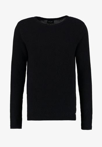 ONSDAN STRUCTURE CREW NECK  - Stickad tröja - black