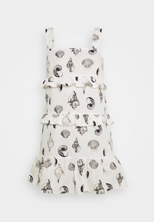TIERED SHELL MINI DRESS - Denní šaty - multi