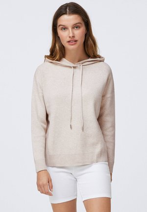 ROUND NECK WITH HOOD - Sweat à capuche - beige