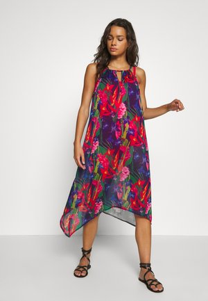 CRINKLE HANKY HEM BEACH DRESS - Beach accessory - multi