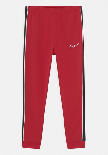 ACADEMY UNISEX - Tracksuit bottoms - gym red/black/white