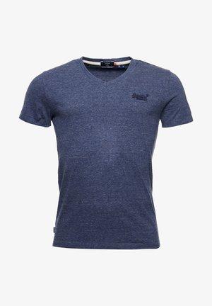 T-shirt basic - navy marl/dark grey