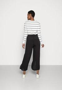 Cream - ALLIE PANTS - Kalhoty - pitch black - 2