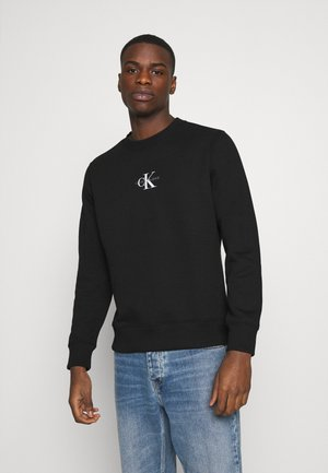 CHEST PRINT CREW NECK - Felpa - black
