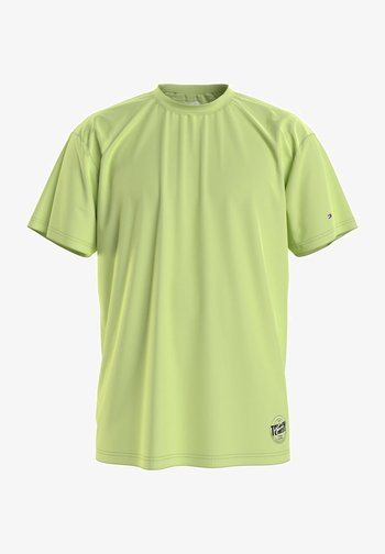 Print T-shirt - faded lime
