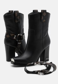 Guess - FLAVIA - High heeled ankle boots - brown/ocra - 5