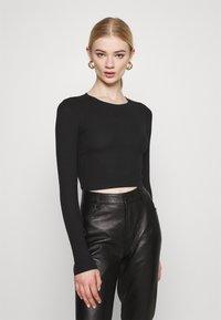 Monki - BARB 2 PACK - Långärmad tröja - black dark/white - 3